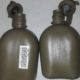 USED  Issue USGI 1QT Plastic Canteen, OD Green USA Made Military Water Bottle